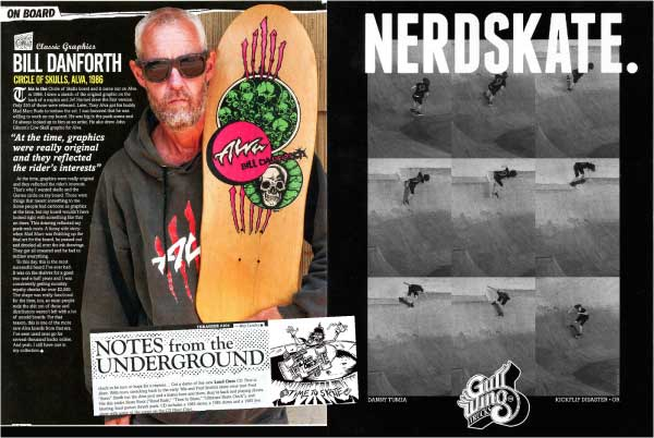 Danforth 'On Board',Danny Tumia 'Gullwing ad' , Loud Ones 'Notes From the Underground' Thrasher March 2014