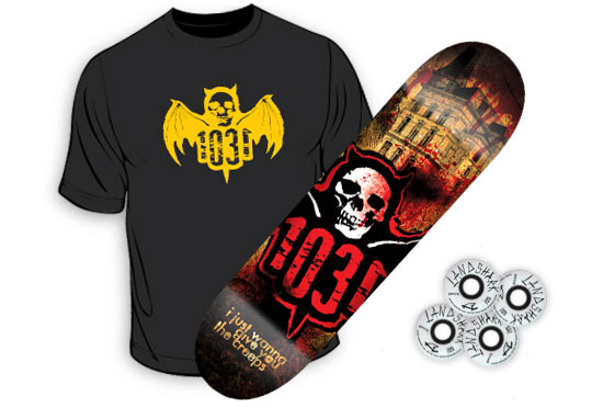 Win a FREE skateboard deck, set of wheels and t-shirt from Regulator Distribution!